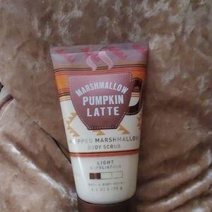 Bath marshmallow pumpkin latte body scrub new!